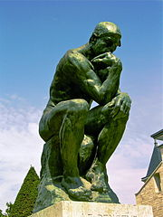 A photo of The Thinker by Rodin located at the Musée Rodin in Paris