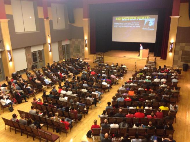 Ratio Christi event at Ohio State University featuring Frank Turek