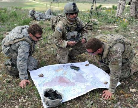 Air Force TACPs confirm target locations with their map