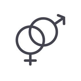 Male and female icon vector symbols