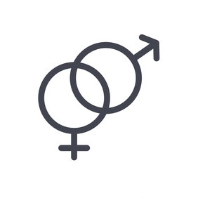Male and female icon vector symbols