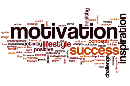 Motivation word cloud concept